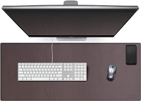 Reisen-Size 800x400x2mm AONKE PU-Leder Multifunktionsb/üro-Schreibtischunterlage Mauspad,wasserdichte rutschfeste Anti-Schmutz-Mausunterlage f/ür B/üro und Zuhause gelb + silber