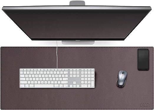 ideal f/ür B/üro und Zuhause YSAGi Wasserdichte Schreibtischunterlage aus PU-Leder Ultrad/ünnes Mousepad zweiseitig nutzbar Indigo, 60 * 35 cm Multifunktionales Office Mauspad