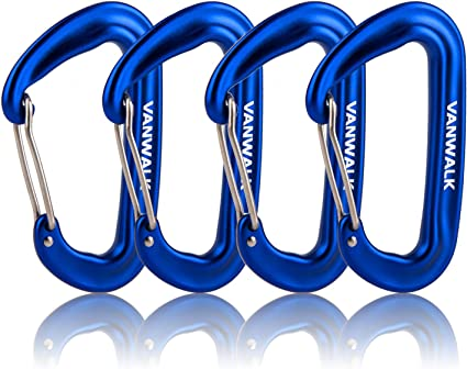 12KN Alloy Screwgate Locking Carabiner For Climbing Hook Royal Blue