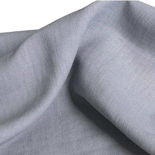 Baumwollstoff 4,65 EUR//m² Bekleidungsstoff 50cm Popeline Uni Dunkel Grau