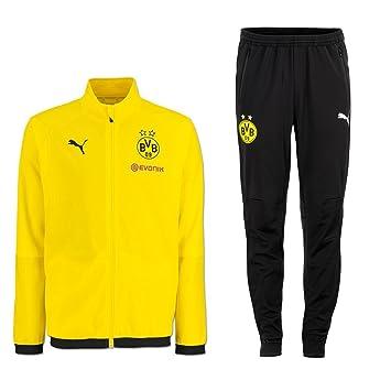 Puma BVB Borussia Dortmund Herren Jogginganzug Sportanzug Saison 2018 2019