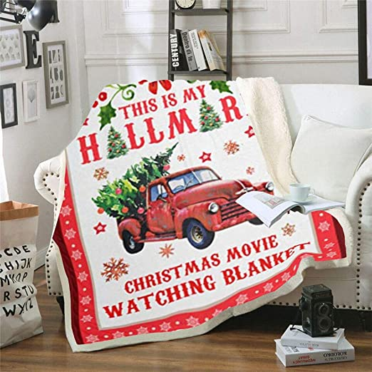 Large Sherpa Fleece Throw Blanket Christmas Blankets Thick Festive Winter 59*79