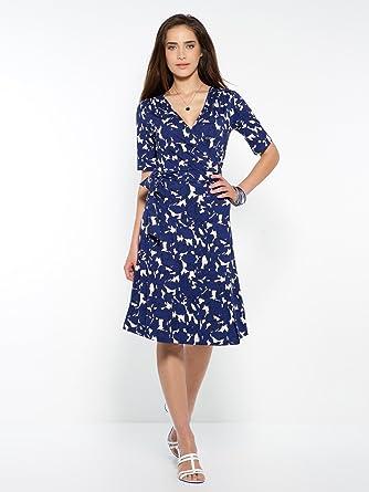 Balsamik Robe Forme Portefeuille Petite Stature D 1 60m Femme Taille 44 Couleur Imprime Bleu Amazon Fr Vetements Et Accessoires