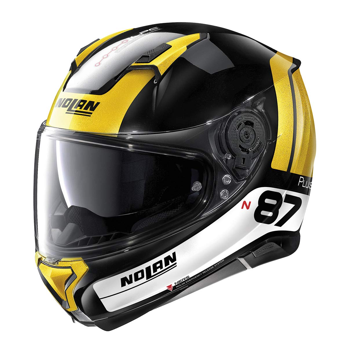 NOLAN CASCO N87 P DISTINCTIVE N-C GLOSSY BLACK L
