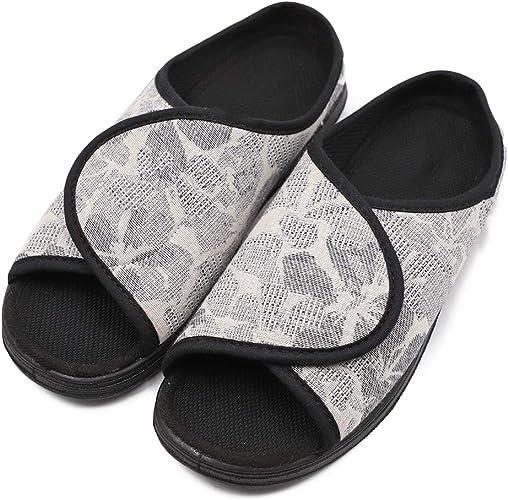 Mei MACLEOD Mens Soft Upper Extra Wide Arthritis Edema Memory Foam Shoes