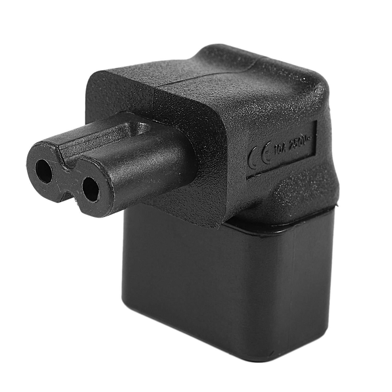 XZANTE Iec 320 C14 Auf Iec C7 Recht Winkliges Netzteil Adapter Schwarz