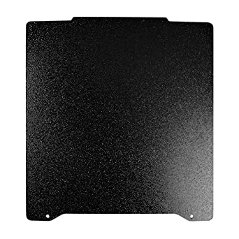 FYSETC 3D Printer Hot Bed Platform Double Sided Textured PEI Spring Steel Sheet Powder Coated PEI Build Sheet 196.3x190mm 7.7x7.4 inch for Prusa Mini-Black
