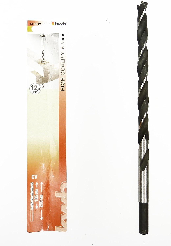 5118-16 KWB Wood Spiral Drill CV Steel Extra Long Length 250/mm 2/Cutting Edges
