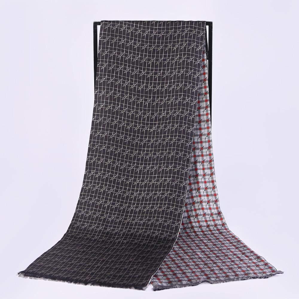 Beige Zhuyuanhai Ladies Silk Shawl unisex silk long scarf twill double scarf send friend Perfectly expresses unique temperament