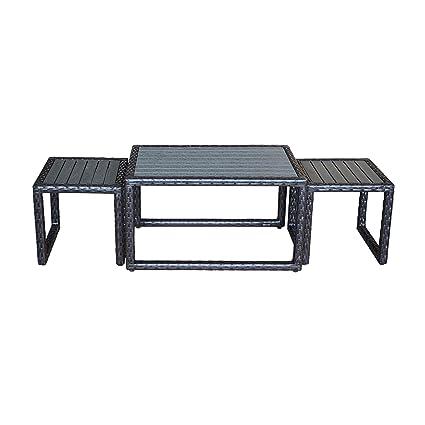 Awe Inspiring Amazon Com Orno Ttobe Patio Wicker Patio Square Side Table Spiritservingveterans Wood Chair Design Ideas Spiritservingveteransorg