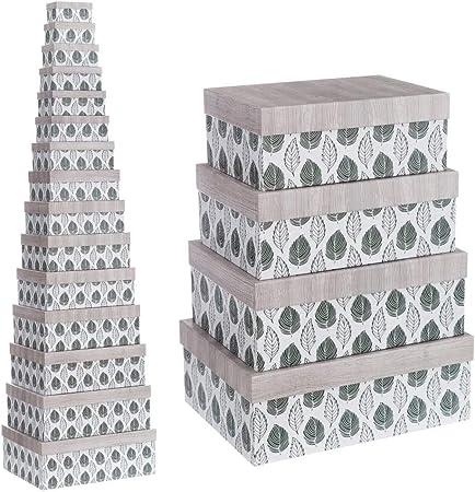 Cajas Verdes de cartón Multiusos étnicas para decoración Bretaña - LOLAhome: Amazon.es: Hogar