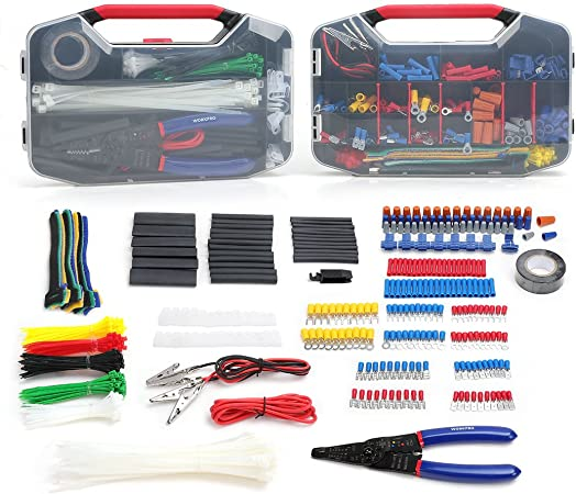 175 Piece Kit Auto Marine Pre Insulated Terminal Assortment With Tool