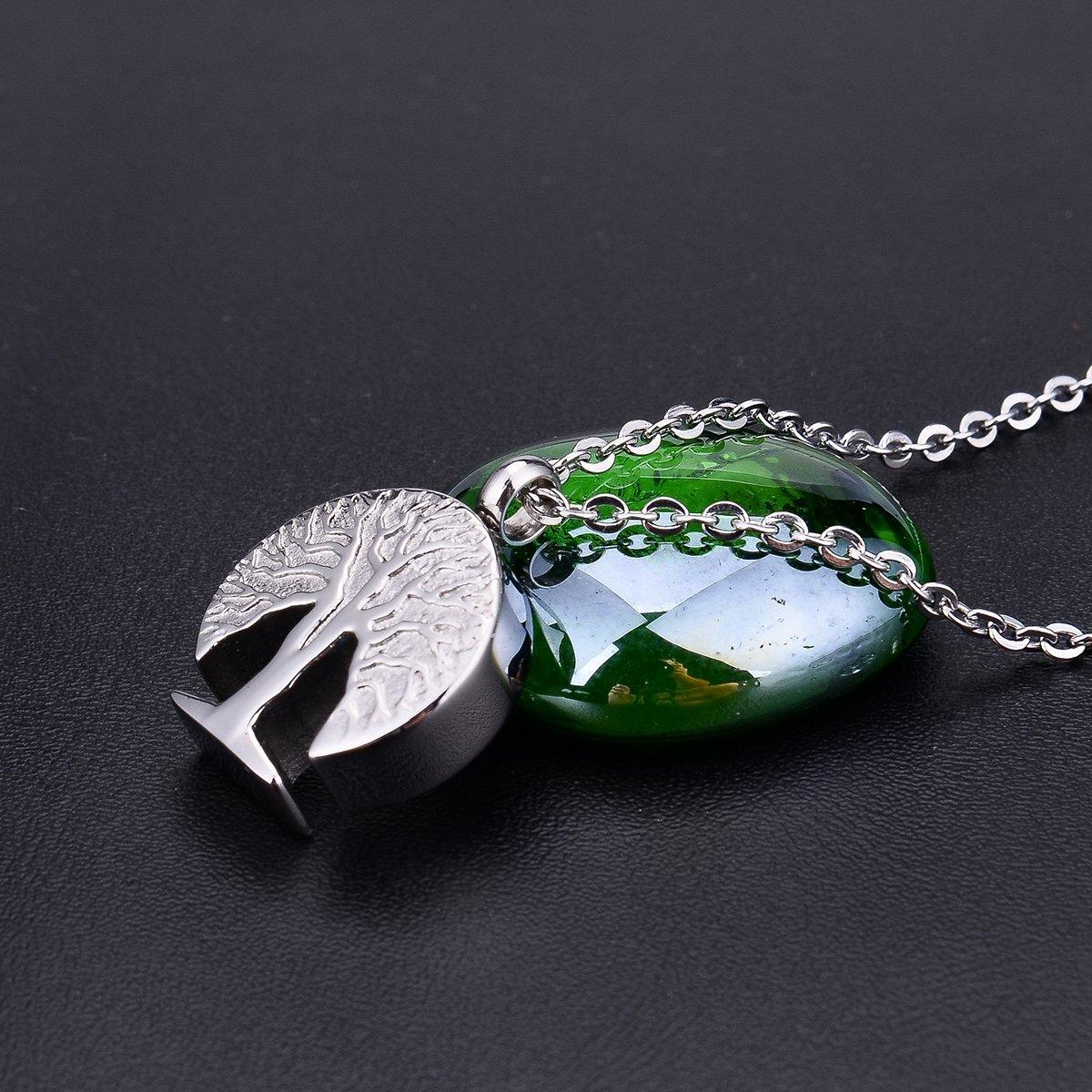 BS Bluesnow Tree of Life Urn Keepsake Pendant Necklace Memorial Ash Cremation Jewelry
