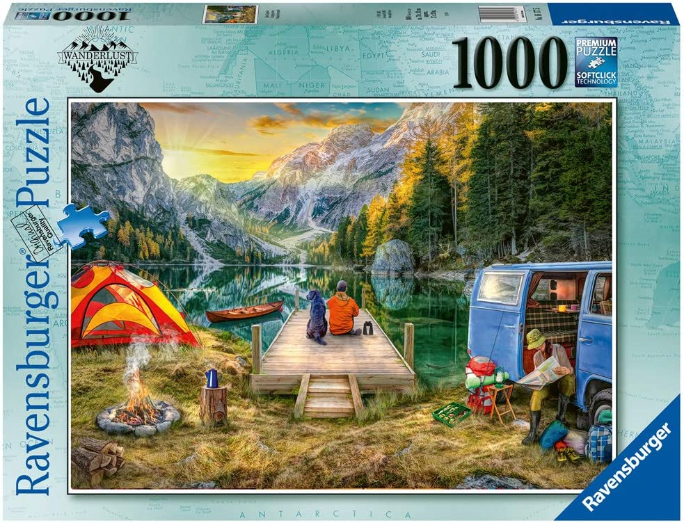 Ravensburger 16177 Calm Campsite 1000 Piece Puzzle for Adults - Every Piece is Unique, Softclick Technology Means Pieces Fit Together Perfectly