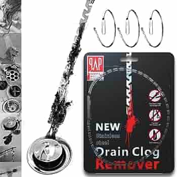 10//50X Bathtub Drain Chain Hair Clog Remover Shower Easy Cleaner Catcher Tool