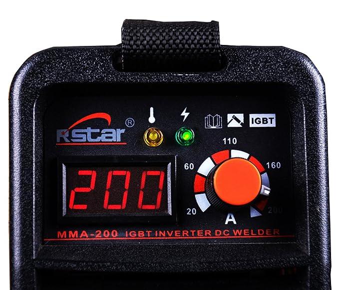 Rstar Portable IGBT Inverter 110v/220v Dual voltage mma200 stick welding machine - - Amazon.com