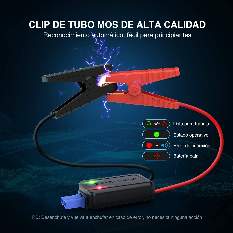 Jusqu/'/à 8.0 L Gazole 7.5L Diesel D/émarrage de Voiture UTRAI Booster Batterie UL Certifi/é Alimentation El/éctrique durgence pour Voiture avec Lamp LED 2000A 22000mAh Portable Jump Starter