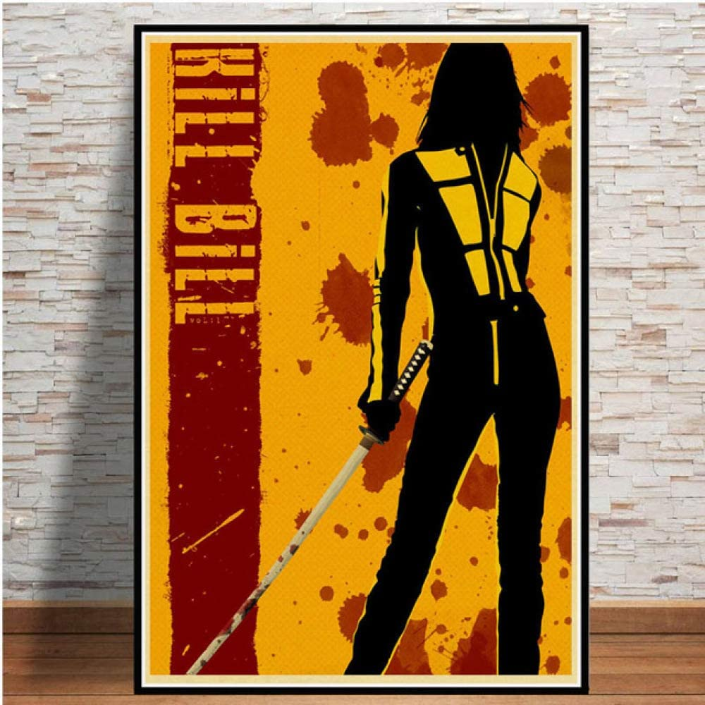 Póster e Impresiones Caliente Kill Bill Pulp Fiction película Vintage Pintura Arte Cuadros de Pared para la decoración