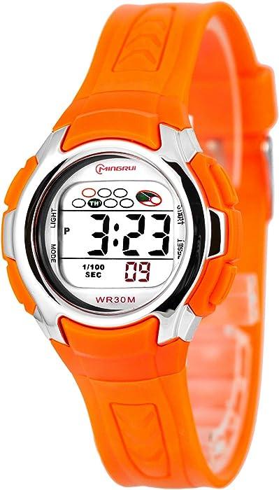 Mingrui – la mujer y Kid s deportes reloj, digital, fecha, alarma, Cronógrafo, 0258-mr/7