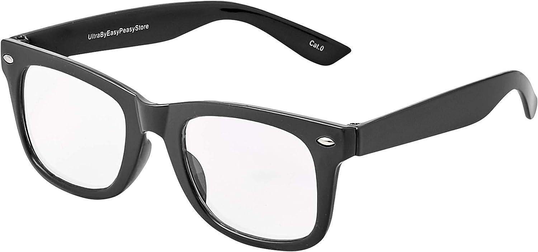 Childrens Classic Clear Lens Glasses Frames Boys Girls Kids Costume Fancy Dress