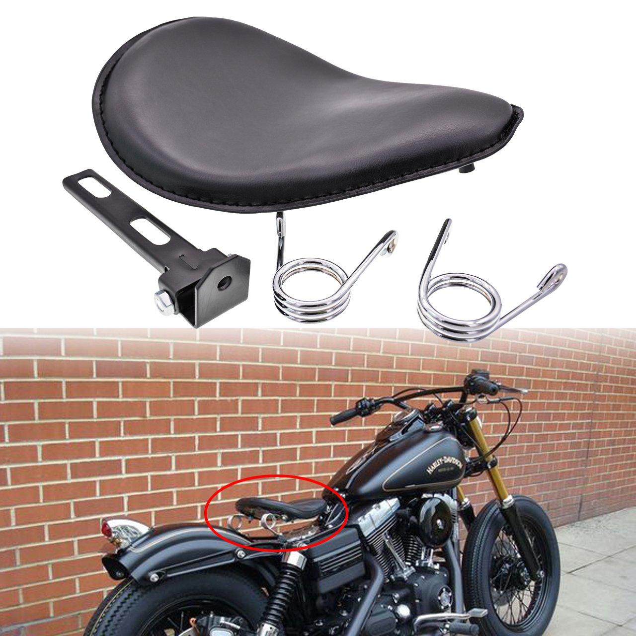 NATGIC Kit de Soporte de Asiento Individual para Motocicleta de 2 Pulgadas para Harley Chopper Bobber Softail Sportster