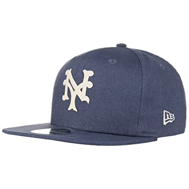 Amazon.com  New Era 9Fifty MLB New York Mets Linen Felt Strapback ... 3bf54938350
