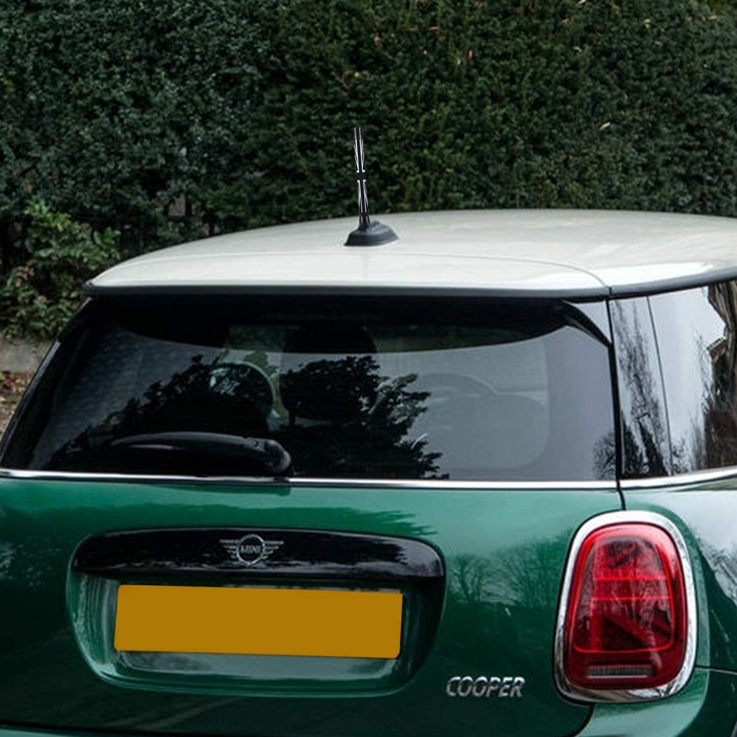 Convertible Cooper S Countryman Clubman Red//Blue//White Union Jack UK Flag Coupe or Roadster Will fit Any Mini Cooper The Stubby Antenna for Mini Cooper All Models