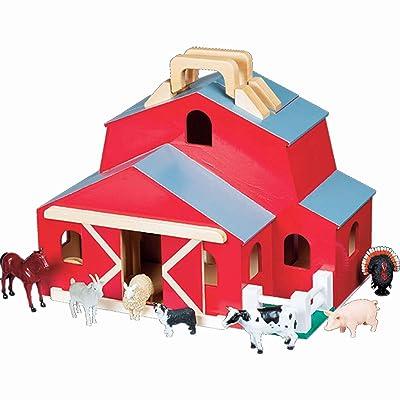 Melissa & Doug Fold & Go Barn: Melissa & Doug: Toys & Games