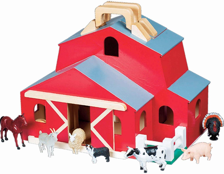 B000067BIF Melissa & Doug Fold & Go Barn 71cYcX6DojL.SL1500_