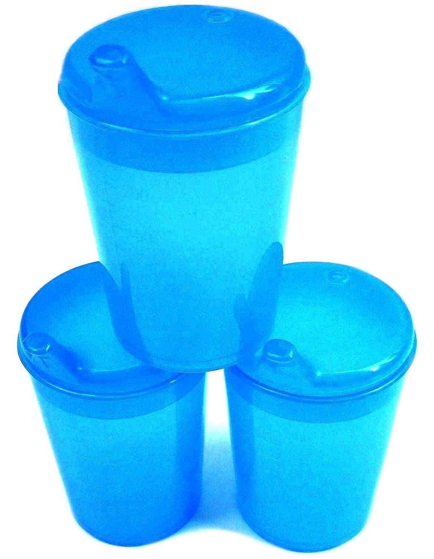 5 x Trinkbecher Schnabelbecher TRIO Becher mit T/ülle blau Fb