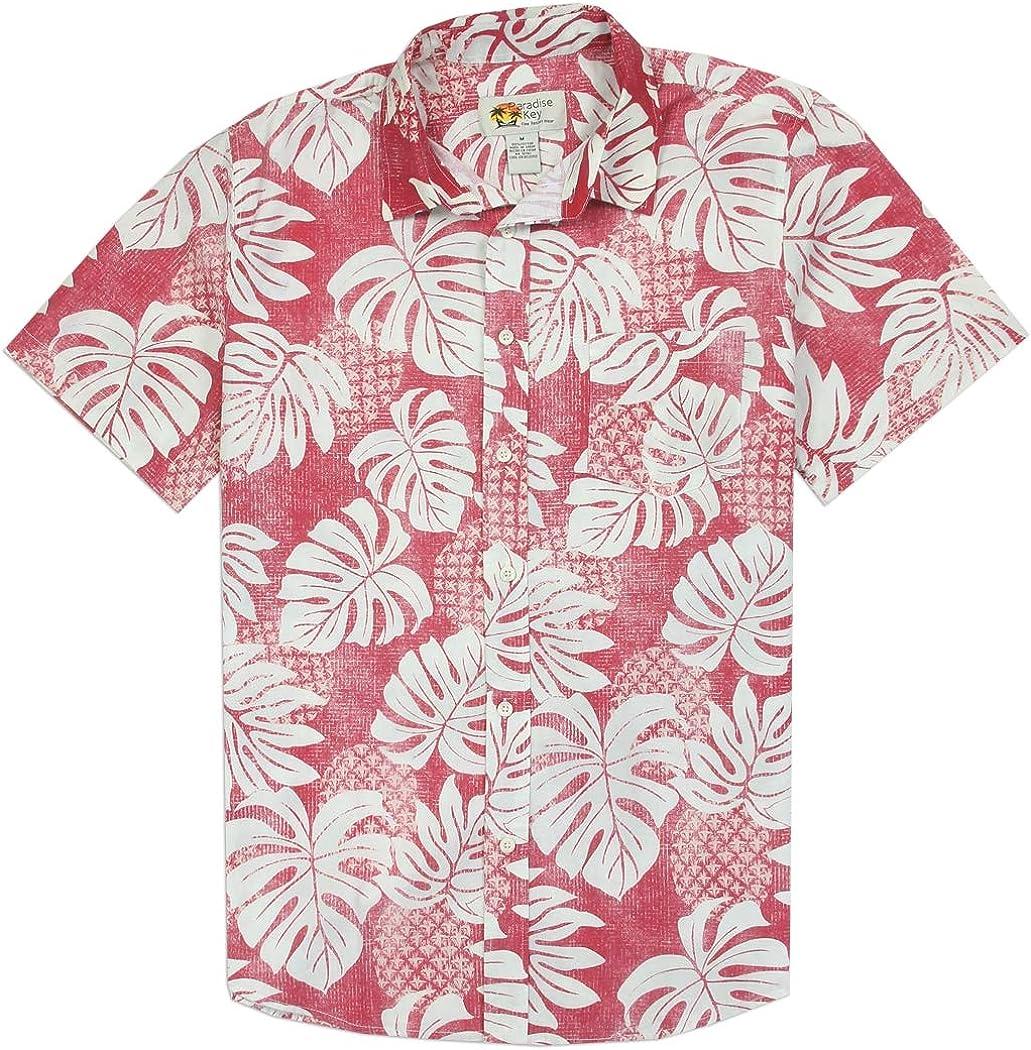Jade Fashions Inc Mens Hawaiian Rayon Yellow Plumeria Aloha Shirt