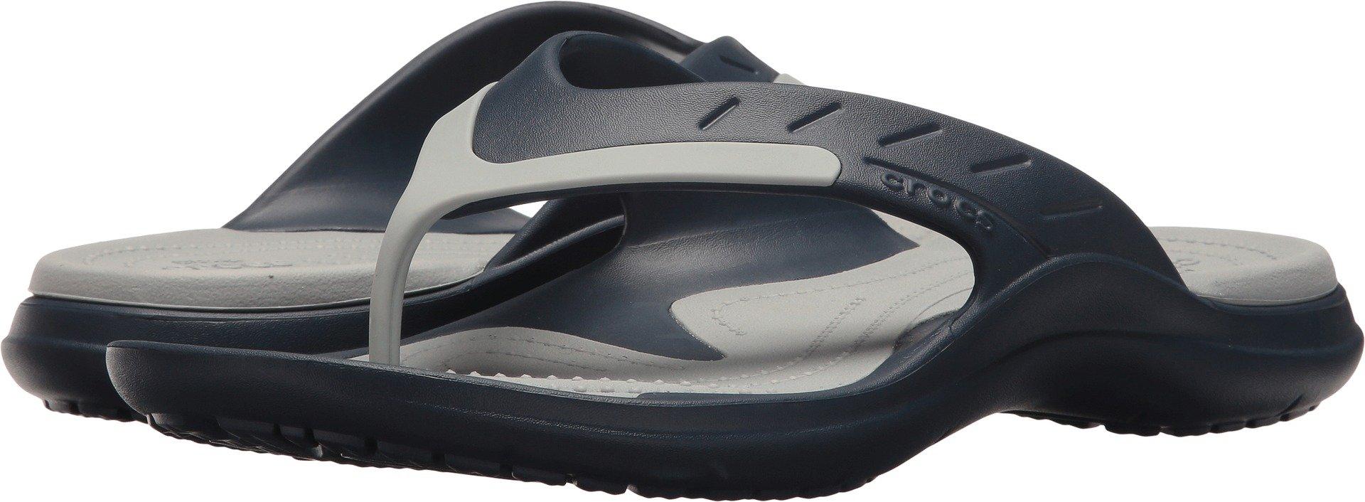 Crocs Modi Flip Sport Sandal, Navy/Light Grey, 12 US Men/14 US Women