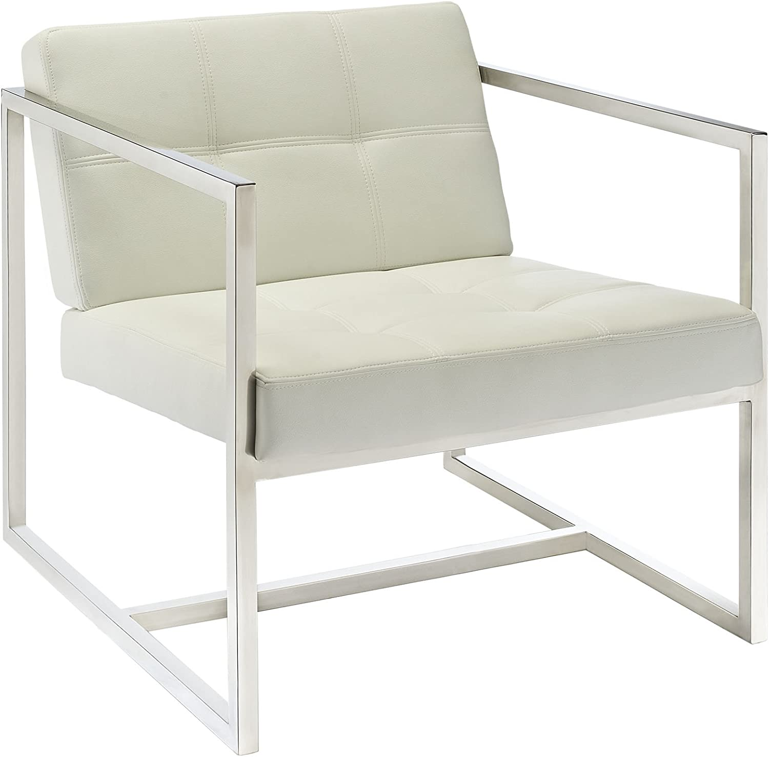 Modway Hover Modern Reception Chair, White