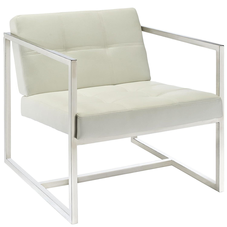 amazon com modway hover modern reception chair white kitchen