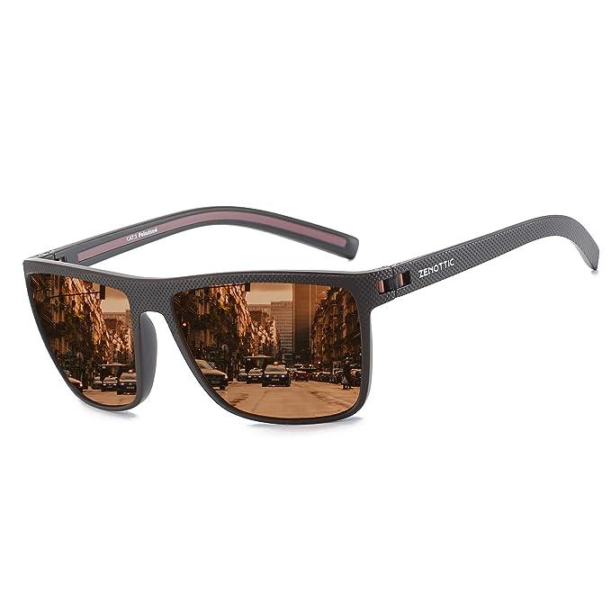 ZENOTTIC Gafas De Sol Polarizadas Para Hombre Gafas Cuadradas TR90 ...