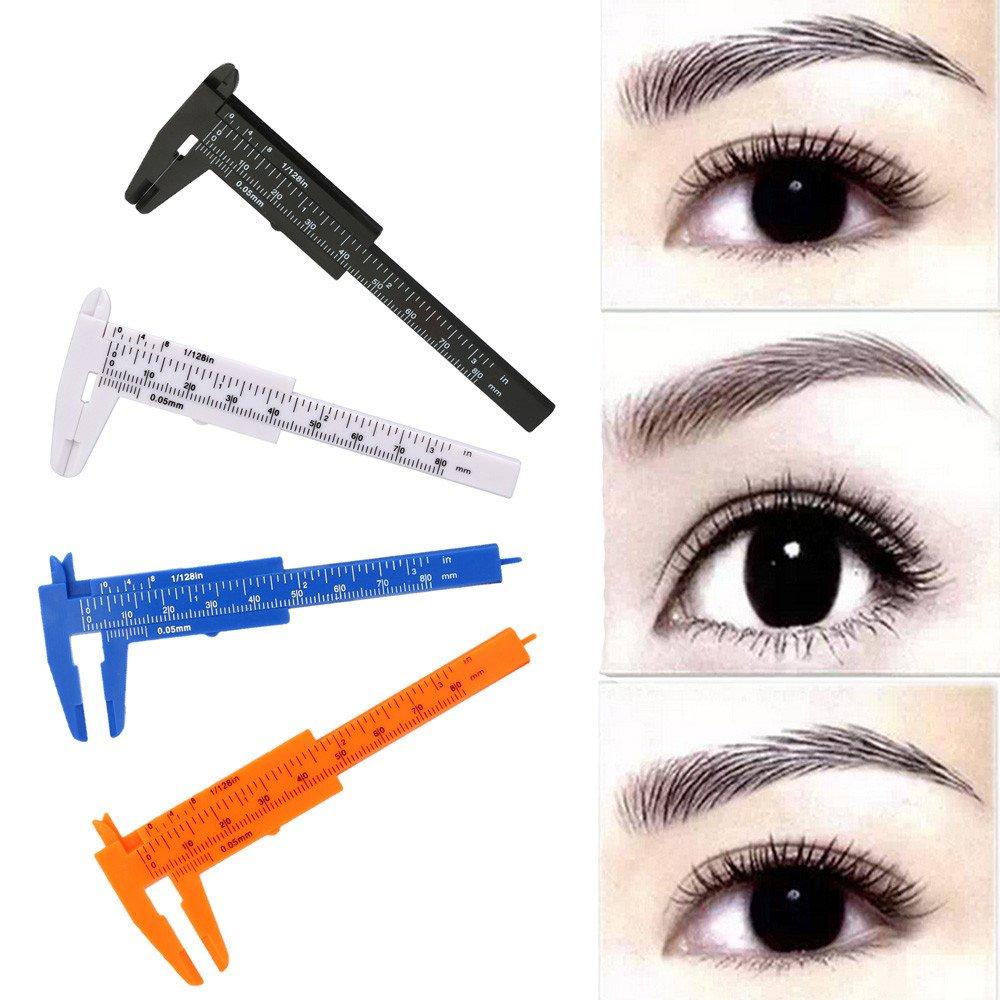 Elevin(TM) 80mm Microblading Reusable Makeup Measure Eyebrow Guide Ruler Permanent Tools