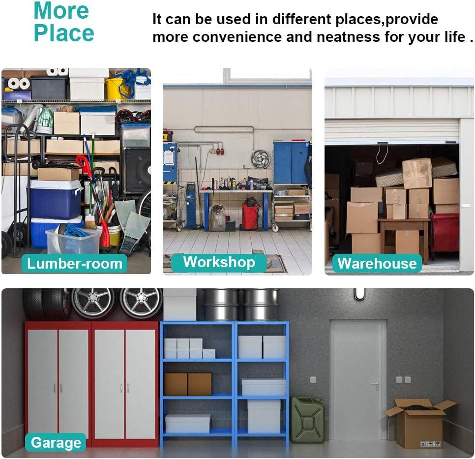 5-Wire/Shelving/Unit Steel Large Metal Shelf Organizer Garage Storage Shelves Heavy Duty NSF Certified Commercial Grade Height Adjustable Rack 5000 LBS Capacity on 4 Wheels 24D x 48W x 76H Black