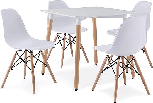 Avanti Trendstore – Scandi – Juego de mesa y 4 sillas, para cocina ...