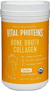 Vital Proteins Organic, Free-Range Chicken Bone Broth Collagen (10oz)