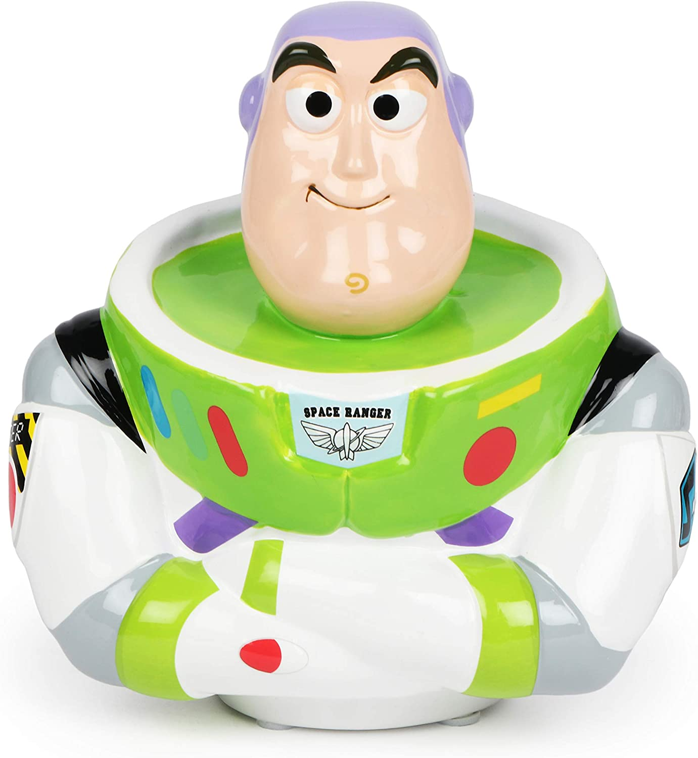 FABNY Buzz Lightyear Figural Coin Bank Toy Story 4 Money Ceramic 3D