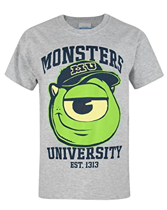 97d8ce714 Amazon.com: Official Monsters University Mike Wazowski Boy's T-Shirt ...