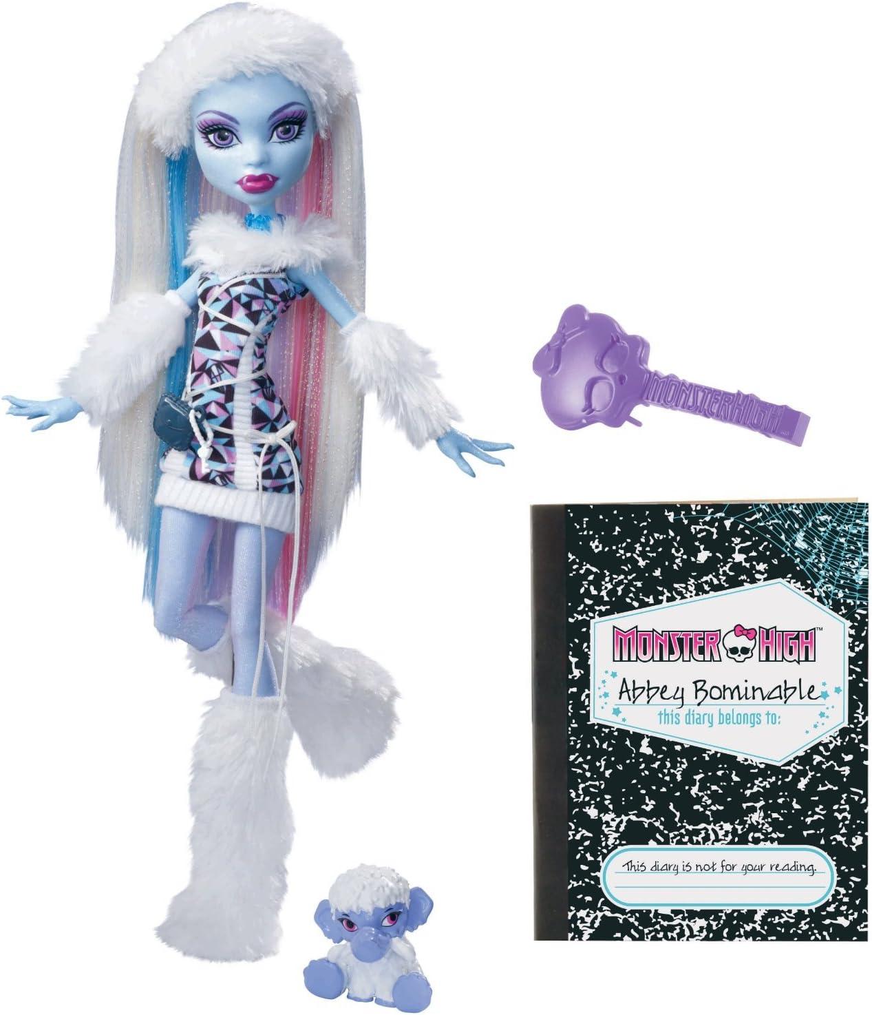 Amazon.es: Monster High - Abbey Bominable (Versión importada con diario en idioma extranjero): Juguetes y juegos