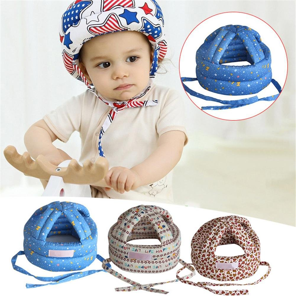 Le bébé réglable de chapeau de baisse de bébé apprennent à marcher le casque de sécurité pour le chapeau protecteur de garçon et de fille Following