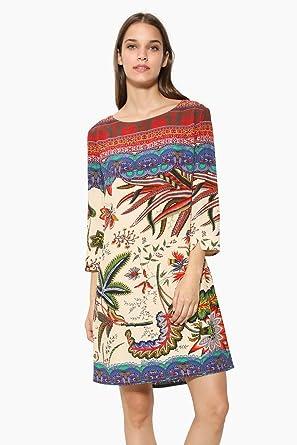 Desigual Robe Crudo Beige 17wwvw66 Taille 36 Amazon Co Uk Clothing
