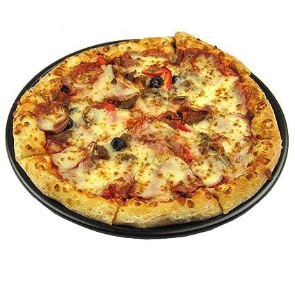 Bandeja de bandeja para hornear Bandeja para hornear pizza No pegajosa Pizza redonda Placa de pizza