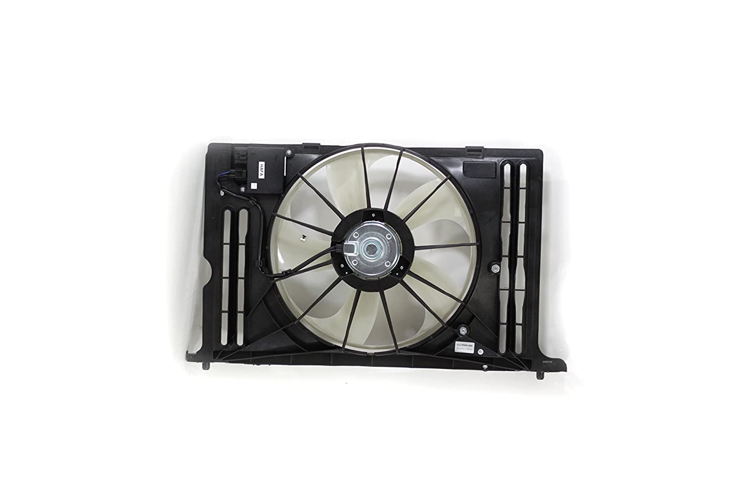 Dual Radiator and Condenser Fan Assembly - Cooling Direct Fit/For 163630T020 09-13 Toyota Corolla Matrix 1.8 Liter With Module