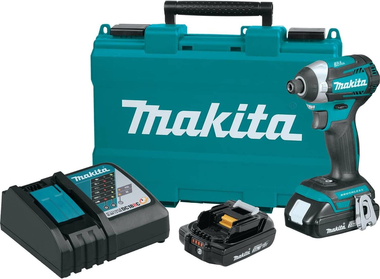 Makita XDT14R 18V LXT Lithium-Ion Compact Brushless Cordless Quick-Shift Mode 3-Speed Impact Driver Kit 2.0Ah
