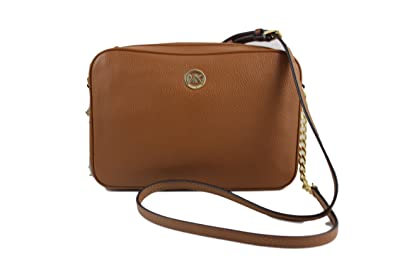 3af6eaa55e7c Image Unavailable. Image not available for. Color  MICHAEL Michael Kors  Fulton Large East West Leather Crossbody Bag in Luggage Brown