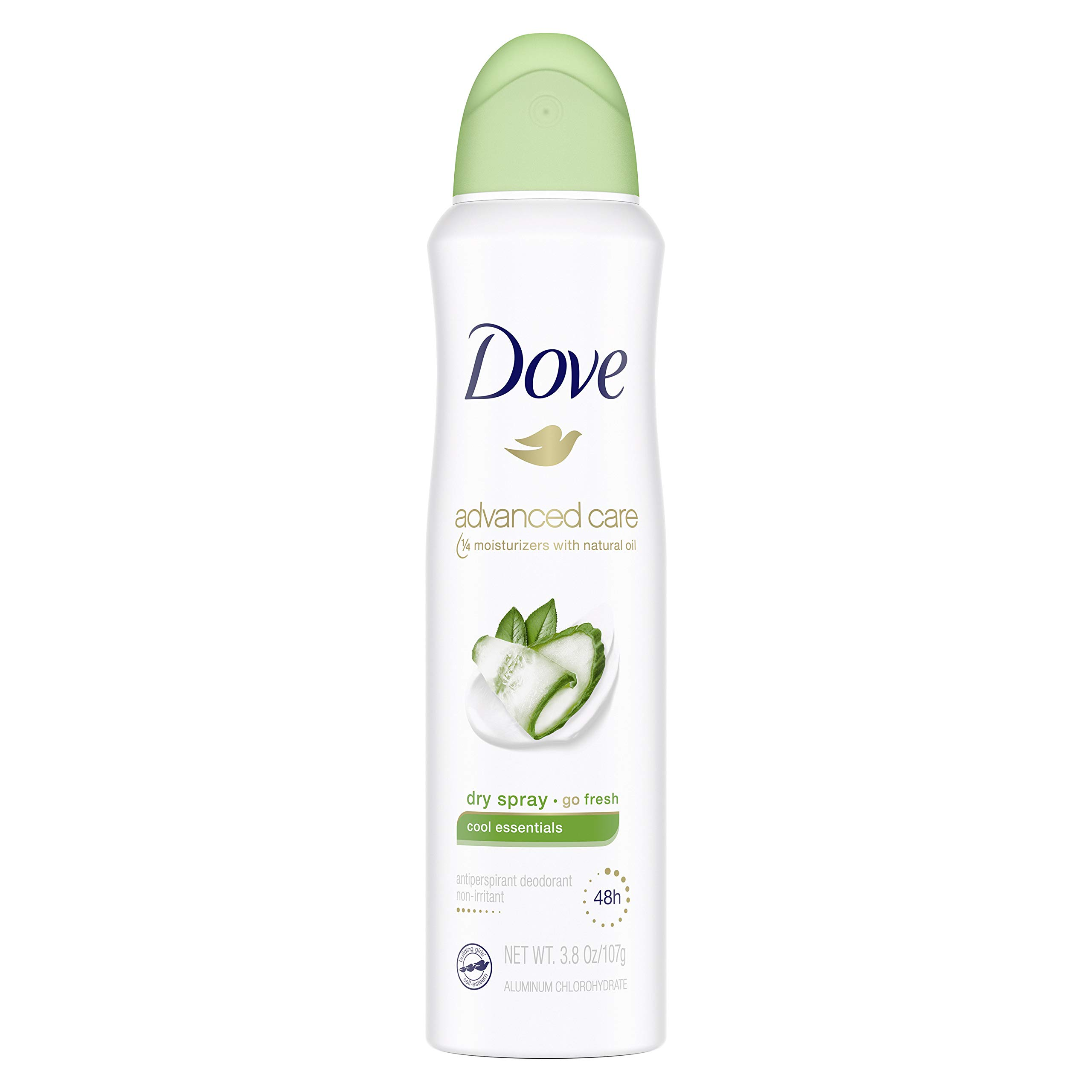 Dove Advanced Care Dry Spray Antiperspirant Deodorant for Women, Cool Essentials, for 48 Hour Protection And Soft And Comfortable Underarms, 3.8 oz