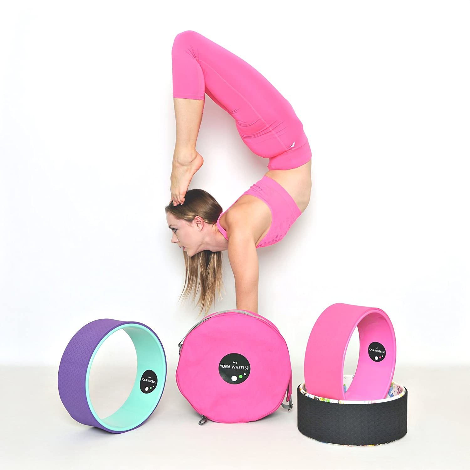 Amazon.com : MyYogaWheels Yoga Wheel for Stretching ...